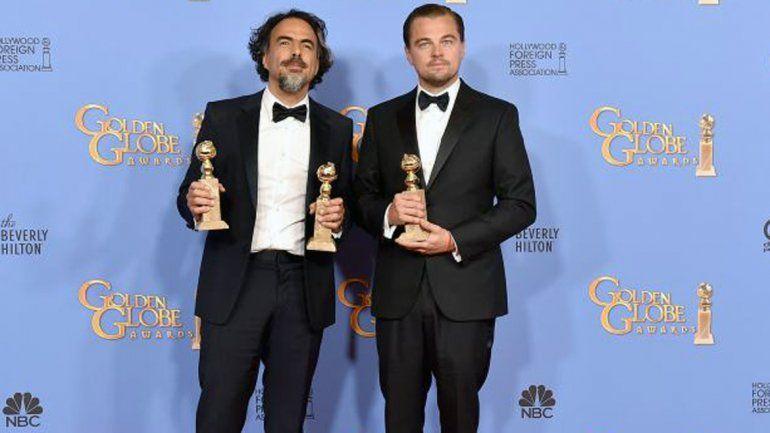 Alejandro González Iñárritu y Leonardo Di Caprio.