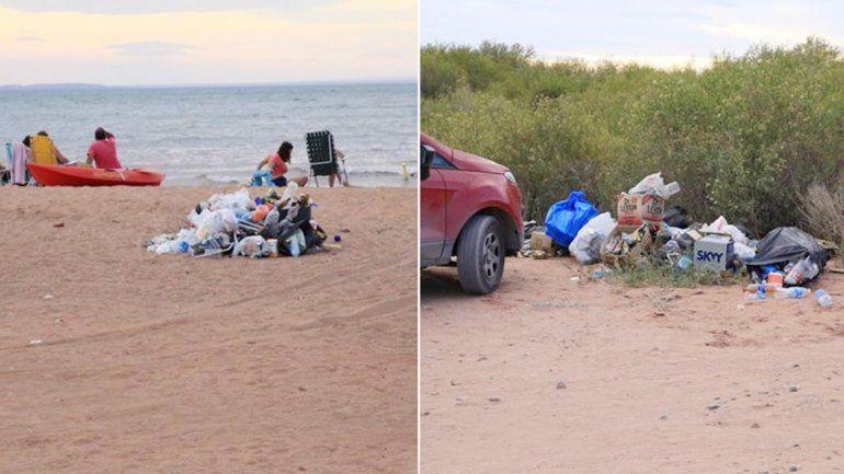La basura amontonada fue fotografiada y publicada en Facebook.