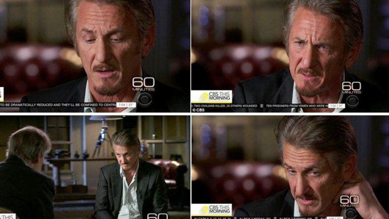 Cuatro momentos de la entrevista que Penn brindó la semana pasada al programa 60 Minutes.