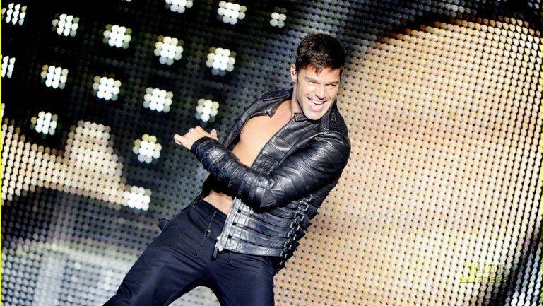 Ricky Martin en plena acción durante uno de los shows del tour que llegará a la Argentina en 2016.