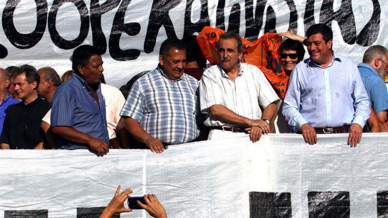 El elenco estable K protesta en Plaza de Mayo a favor de la jujeña.