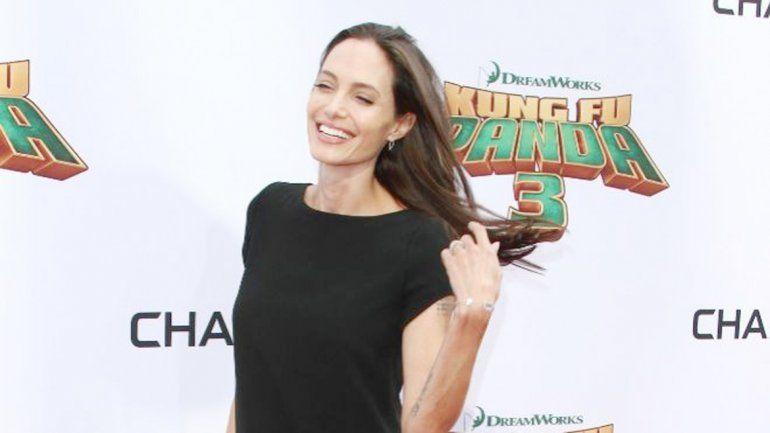 Jolie durante al estreno de la película Kung Fu Panda 3.