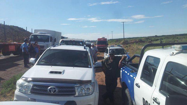 Desocupados de la Uocra levantaron el corte en la Ruta 7 en cercanías a El Chañar