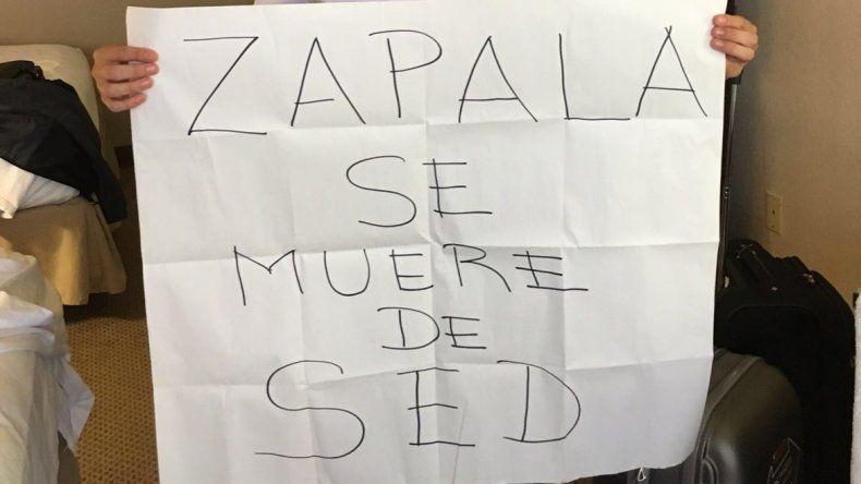 Zapala se muere de sed
