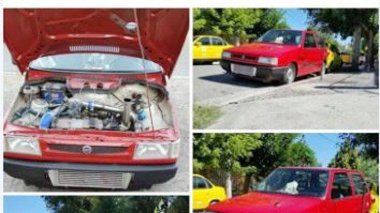El Fiat Uno rojo cuyo propietario mantenía muy bien cuidado.