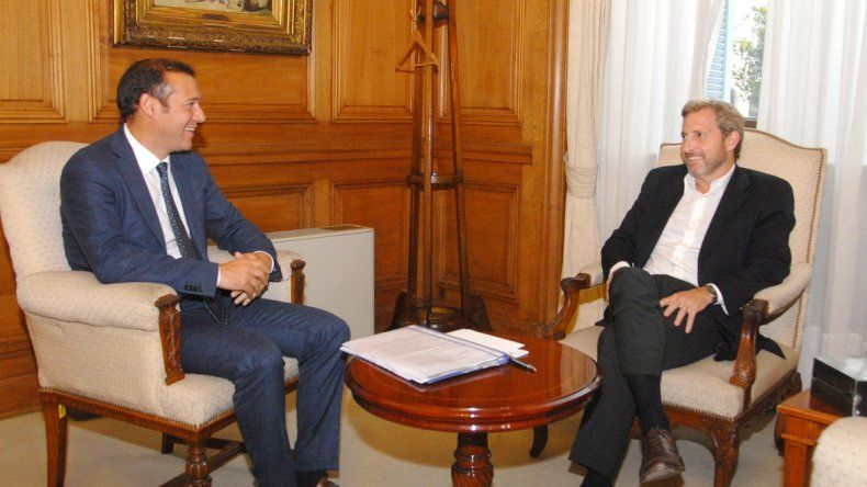 Omar Gutiérrez y el ministro del Interior