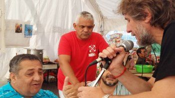 Boudou (otro K con barba), ayer junto al dirigente social Luis DElía.