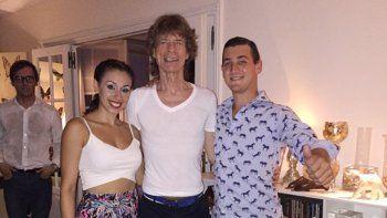 Después del segundo show, Jagger y Wood tuvieron fiesta con famosos.