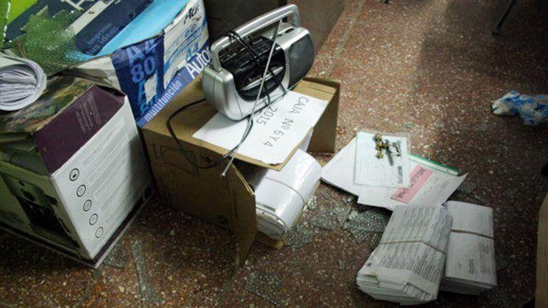 En una de las oficinas de la Municipalidad había quedado preparado el botín.