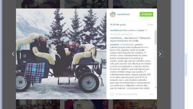 Wanda y sus hijos en sus últimas vacaciones en Sankt Moritz