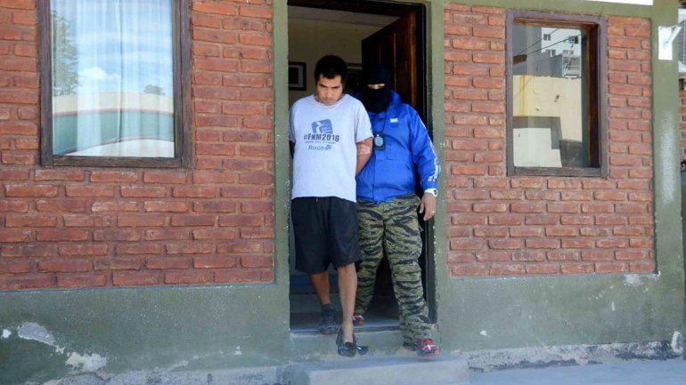 Miguel Enrique Pichihuinca fue trasladado a la cárcel de Senillosa.