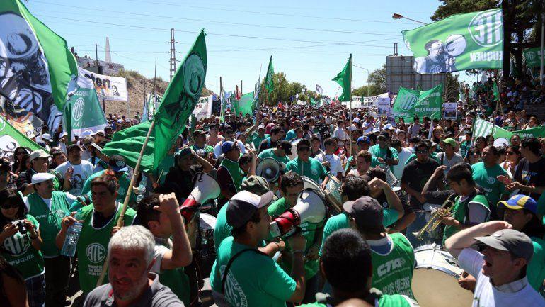 ATE desplegó su protesta  y las calles fueron un caos