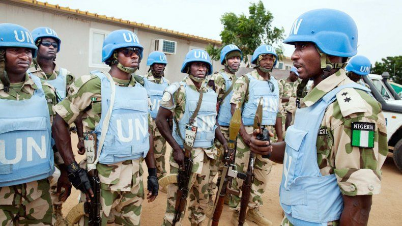 Cascos azules nigerianos en una misión de paz. Los soldados de ese país están entre los señalados.