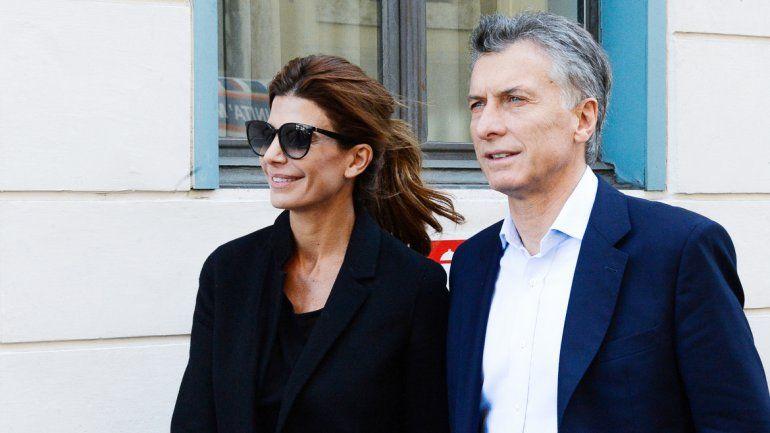Mauricio Macri y su esposa Juliana