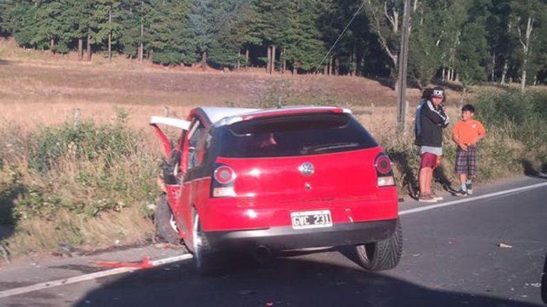 Los argentinos circulaban en un VW Gol.