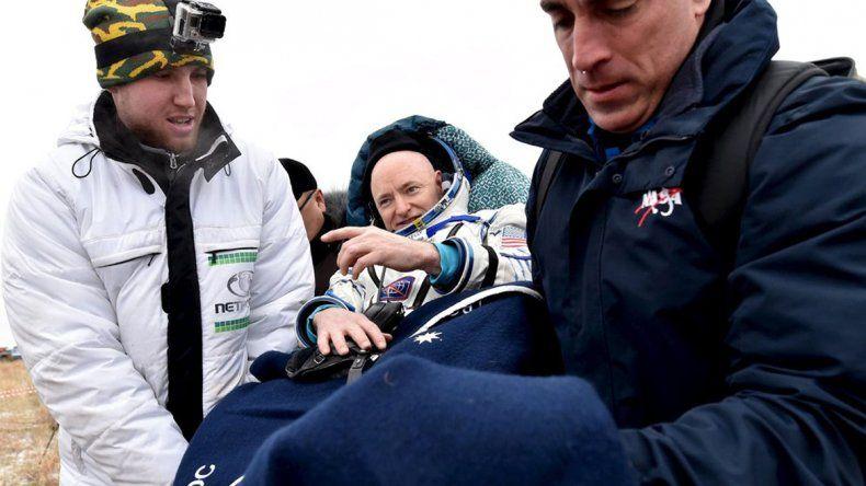 Un astronauta estadounidense regresó a la tierra tras permanecer un año en el espacio