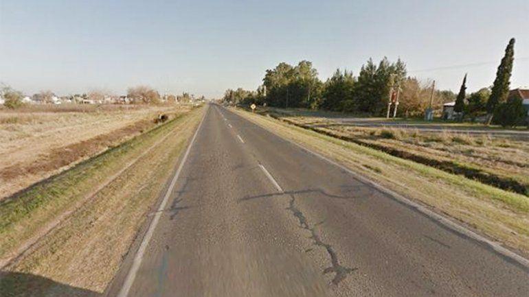 Este es el tramo de la Ruta 18 donde el automovilista chocó y mató a un motociclista.