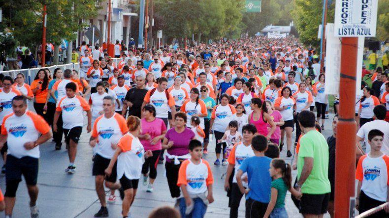 Una multitud participó del megaevento cipoleño. El deporte es salud y así lo entienden en la vecina ciudad.