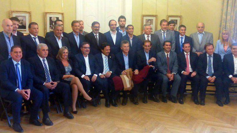 Quiroga estuvo con el presidente Mauricio Macri y otros 22 intendentes.