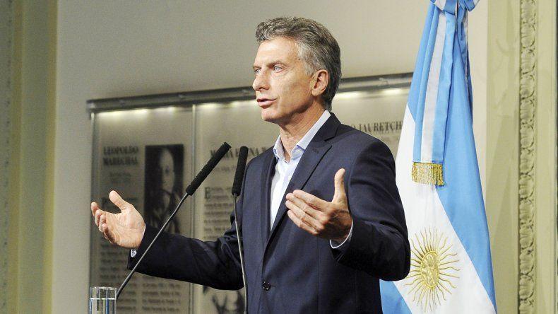 El presidente Mauricio Macri resaltó la necesidad de llegar a un acuerdo.