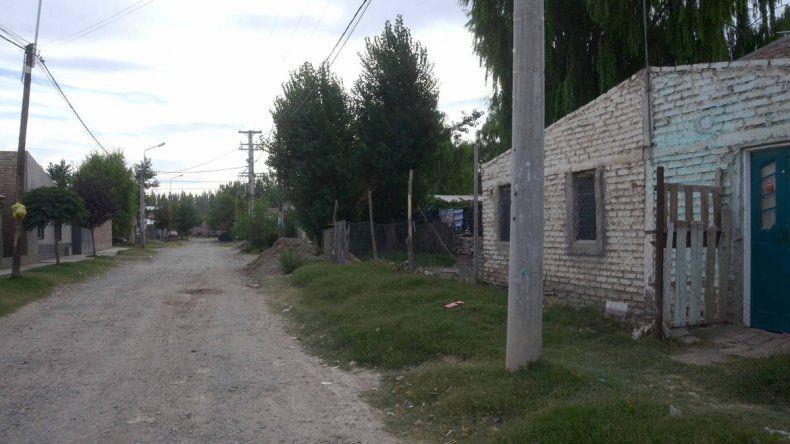 La casa donde se registró la discusión y el crimen de Delmar Parra. Un amigo que bebía con él contó lo sucedido.