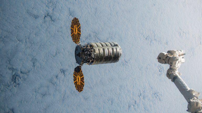 La cápsula Cygnus que la NASA incendiará en el espacio.