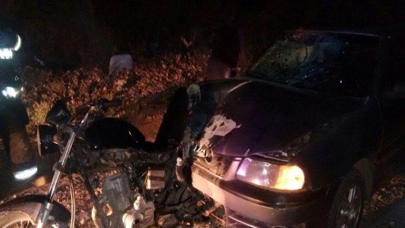 Un motociclista grave tras un choque en la Ruta 7