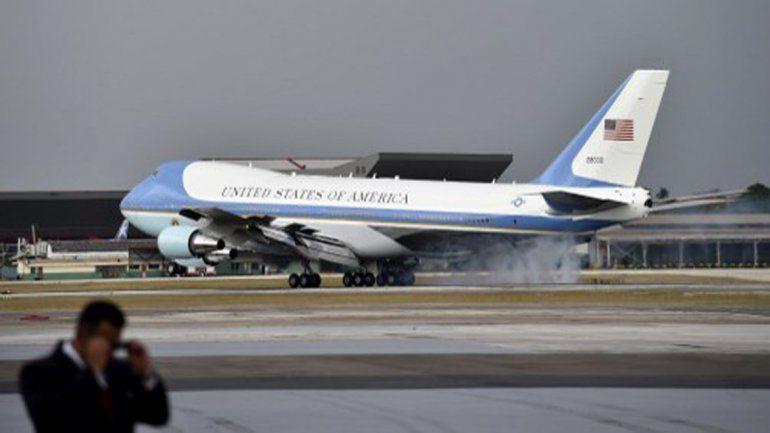 Visita histórica: el presidente Barack Obama aterrizó en Cuba