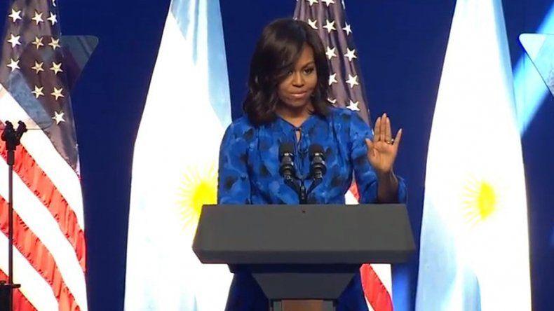 Michelle Obama pidió a las mujeres hacerse oír