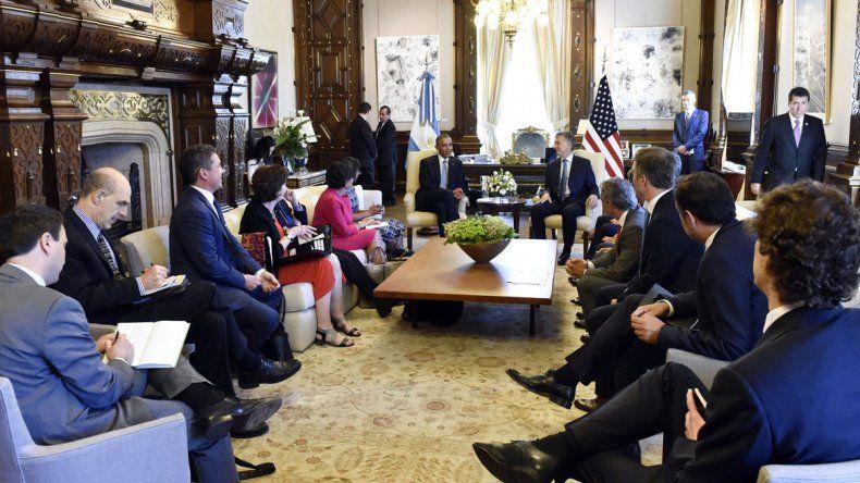 Obama estuvo en la Casa Rosada con funcionarios.