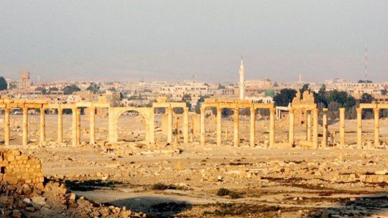 La ciudad había sido destruida por los extremistas islámicos.