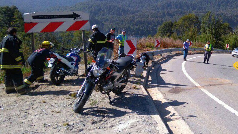 Un motociclista herido tras un choque en la Ruta 40