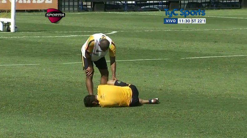 Osvaldo se lesionó y abandonó el entrenamiento de Boca