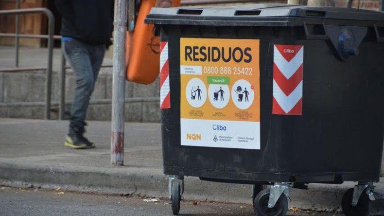 En el centro, Cliba dejará de recolectar los residuos de los canastos