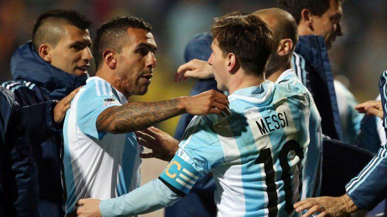 Carlitos y Leo en la Selección.