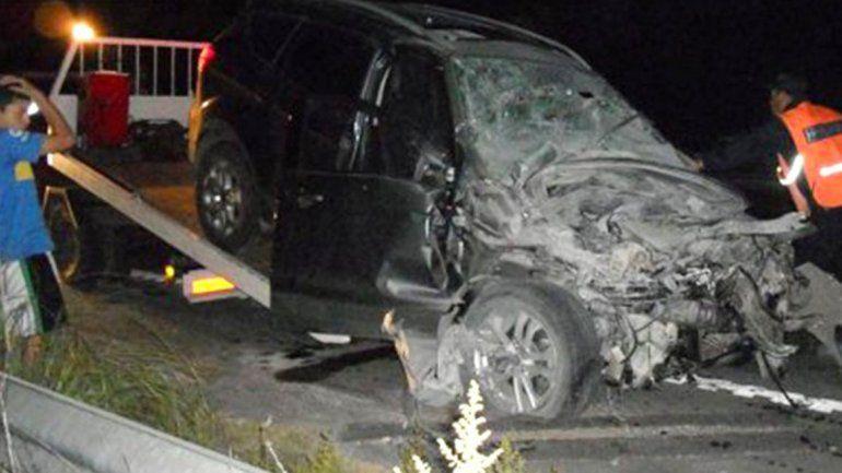 Chano volvió a chocar: esta vez contra un camión y quedó internado