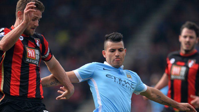 Con un gol de Agüero, el City goleó 4 a 0 al Bournemouth