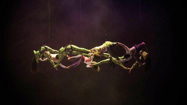 La compañía de danza aérea Élevé llega a Showmatch.