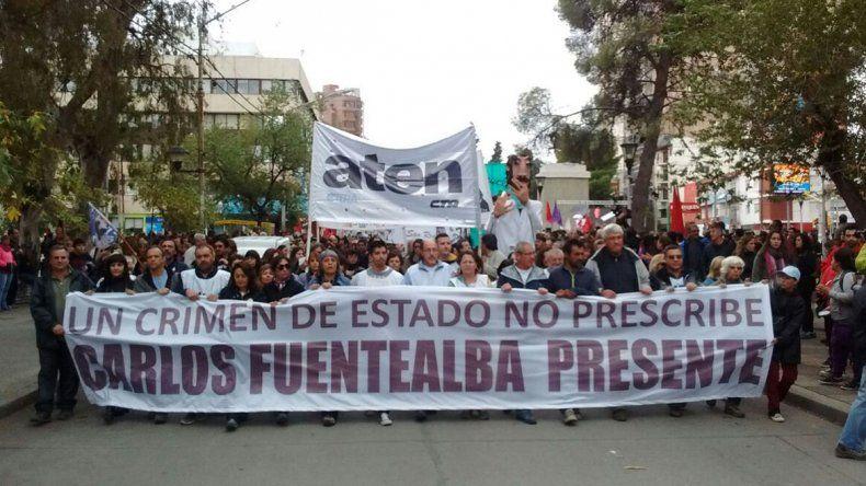 A 9 años del asesinato de Fuentealba, una masiva marcha exigió justicia completa