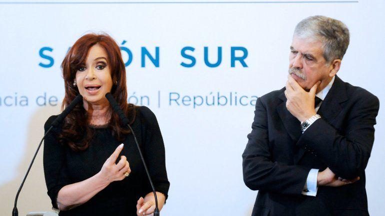 Cristina Fernández de Kirchner y el ex ministro y actual diputado nacional Julio de Vido.