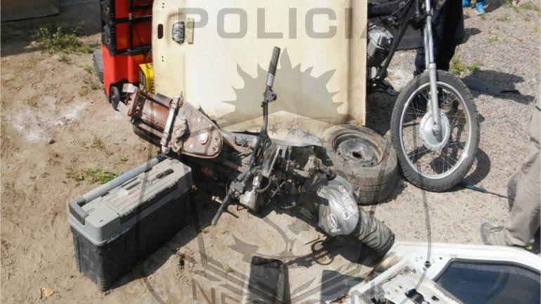 En el lugar desarmaban los vehículos y después vendían las partes.
