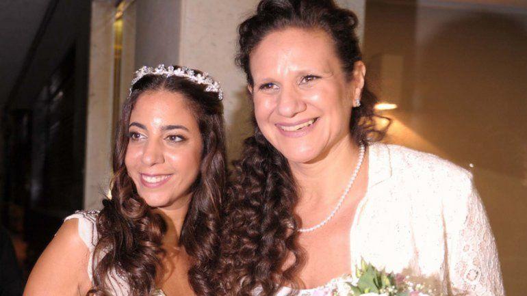 La pareja se casó en una sinagoga del barrio porteño de Belgrano.
