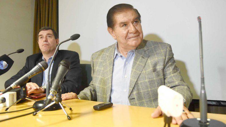 Bruno y Pereyra se reunieron ayer por la mañana en la sede del sindicato petrolero.