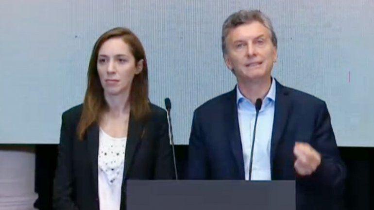 Mauricio Macri y María Eugenia Vidal.