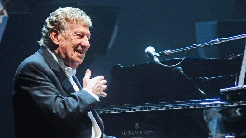 El pianista en una de sus presentaciones en el teatro Gran Rex