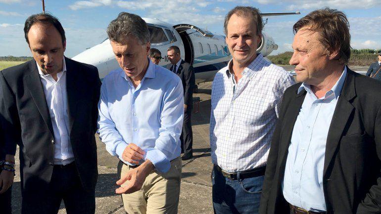 Macri está en el litoral para recorrer las zonas afectadas por las inundaciones.