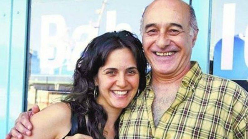 La actriz junto a su padre