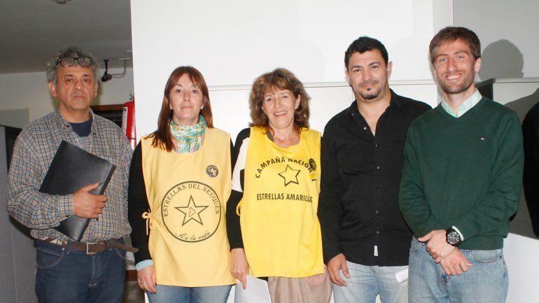 Referentes de la organización Estrellas Amarillas