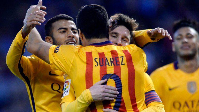 Messi felicita a Suárez