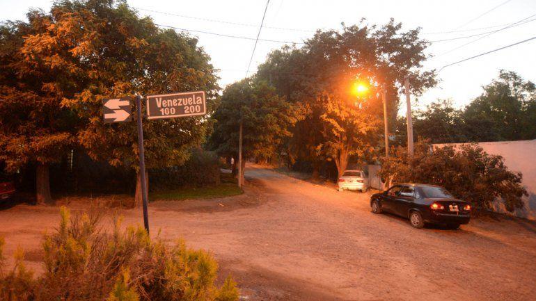 El golpe fue sobre calle Venezuela al 150 en el barrio Barreneche